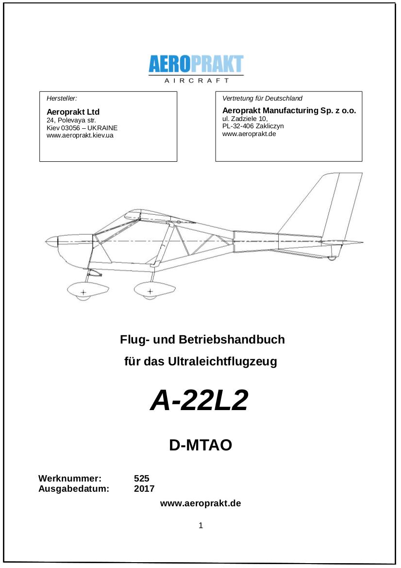 Flug- und Betriebshandbuch